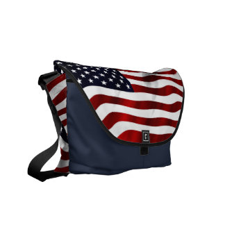 American Flag Patriotic Independence Day Courier Bag