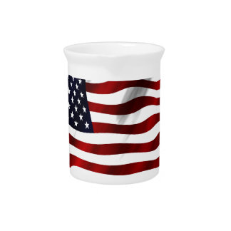 American Flag Patriotic Independence Day Drink Pitcher