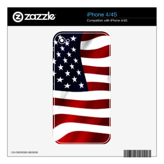 American Flag Patriotic Independence Day iPhone 4S Decal