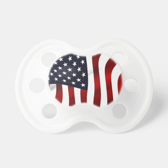American Flag Patriotic Independence Day Pacifier