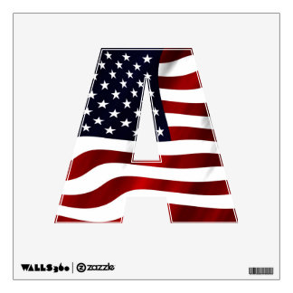 American Flag Patriotic Independence Day Wall Decal
