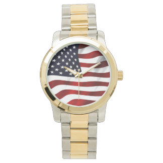 American Flag Patriotic Independence Day Wrist Watch