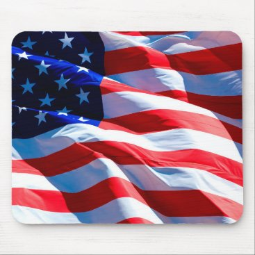 USA Themed American Flag Patriotic Mouse Pad