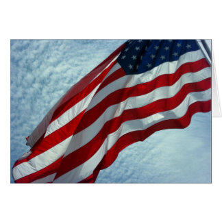American Flag - Patriotic Note Card -
