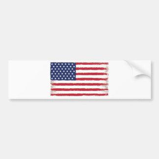 American flag Patriotic Old Grunge Bumper Sticker