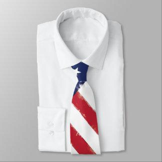 American flag Patriotic Old Grunge Tie