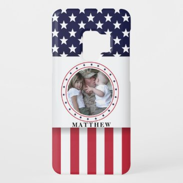 American Flag Patriotic Photo Personalized Case-Mate Samsung Galaxy S9 Case
