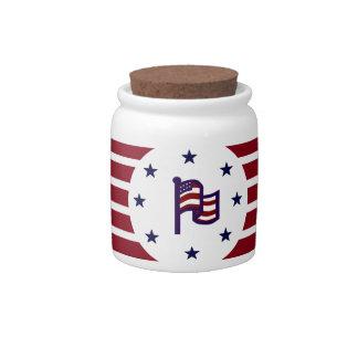 AMERICAN FLAG PATRIOTIC PORCELAIN JAR