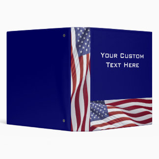 American Flag Patriotic Presentation Binder Album