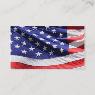 American Flag   Patriotic Soldier Veteran Military Business Card