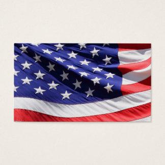 American Flag Patriotic Soldiers Veterans Military Business Card