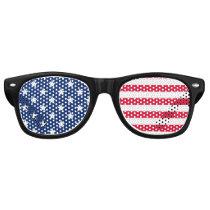 American Flag Patriotic Stars and Stripes USA Retro Sunglasses