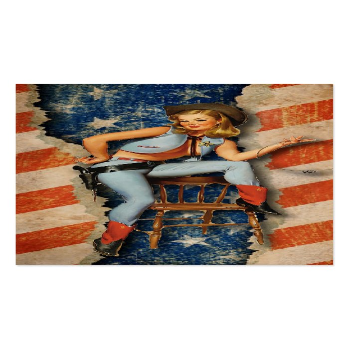 American Flag Patriotic Western Business Cards