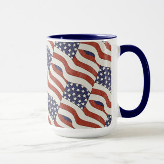 American Flag Pattern 15 oz Mug