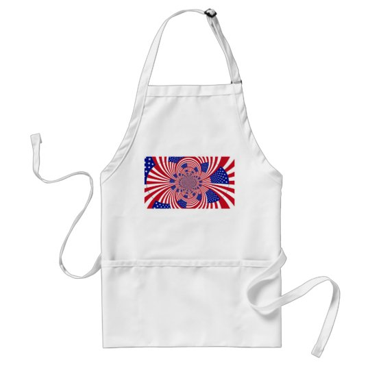 American Flag pattern Adult Apron
