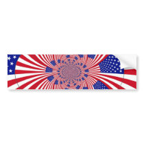 American Flag pattern Bumper Sticker