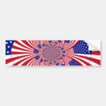 American Flag pattern Bumper Stickers