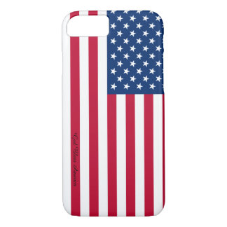 American Flag Pattern iPhone Case
