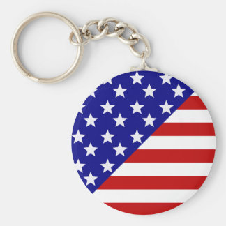 American Flag Pattern Keychains