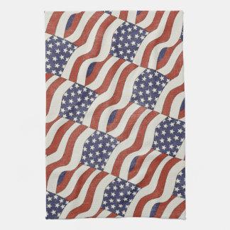 American Flag Pattern Kitchen Towel