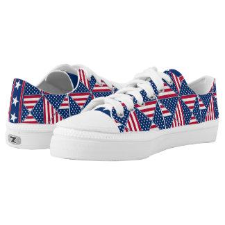 American Flag Pattern Low-Top Sneakers