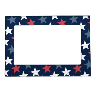 American Flag Pattern Magnetic Photo Frame