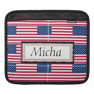 American Flag Pattern Monogram Sleeve For iPads