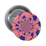 American Flag pattern Pinback Buttons