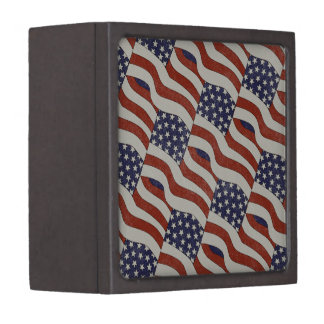 American Flag Pattern Premium Gift Box
