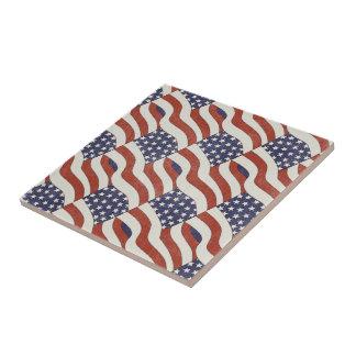 American Flag Pattern Tile