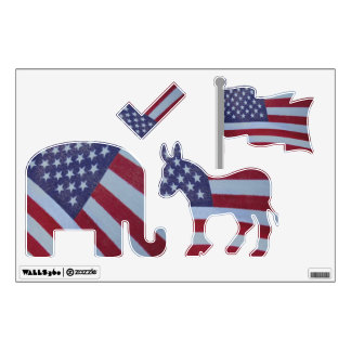American flag pattern wall decal