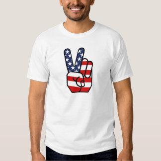 American Flag Peace Hand T-Shirt