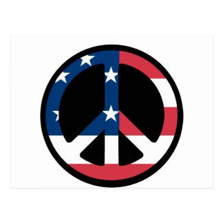American Flag Peace Postcard