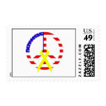 American Flag Peace & Ribbon Stamp