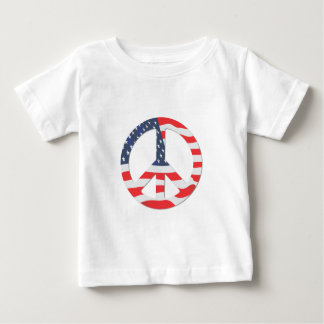 American Flag Peace Sign Baby T-Shirt