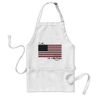 American Flag Peace Sign BBQ Apron