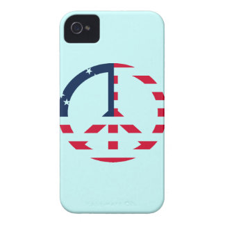 American Flag Peace Sign Blackberry Bold Case-Mate
