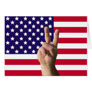 American Flag & Peace Sign Card
