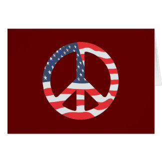 American Flag Peace Sign Card