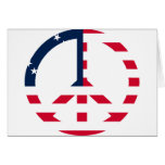 American Flag Peace Sign Cards