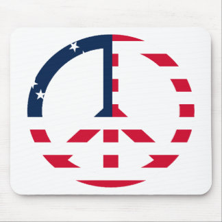 American Flag Peace Sign Mouse Pad