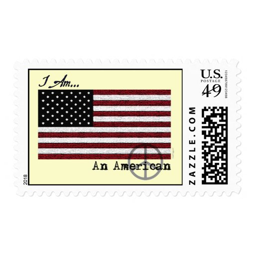 American Flag Peace Sign Postage