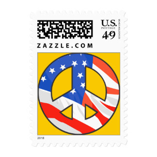 American Flag Peace Sign Postage stamps