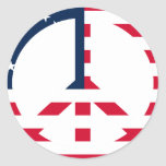 American Flag Peace Sign Stickers