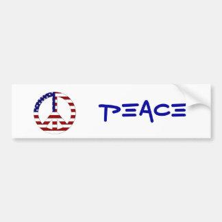 American Flag Peace sign USA Bumper Sticker