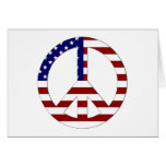 American Flag Peace sign USA Greeting Cards