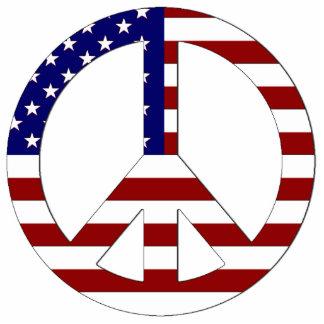 American Flag Peace sign USA Statuette
