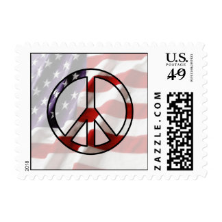 American Flag Peace Stamp