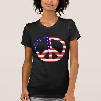 American Flag Peace Symbol T-Shirt