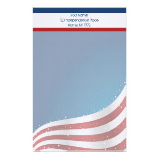 American Flag Personal Stationery